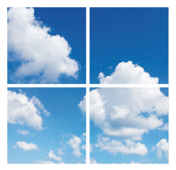 Led Wolkenplafond 4 panelen - paneel-wolk-4