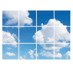 Led Wolkenplafond 12 Panelen - paneel-wolk-12