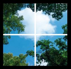 Led Bomenplafond 4 Panelen - paneel-bomen-4