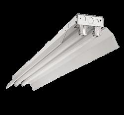 Led Armatuur  met reflektor kap-voor  2 x T8 buizen 1500mm - prft8rd150-ip22-tl-t8-1500mm-reflector