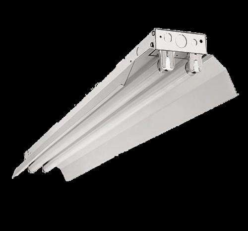 Led Armatuur met Reflektor Kap voor 2 x T8 buizen 1200mm - prft8rd120-ip22-tl-t8-1200mm-reflector