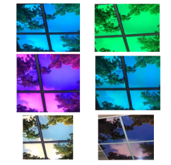Led Fotoplafond RGB 4 panelen - paneel-foto-rgb-4