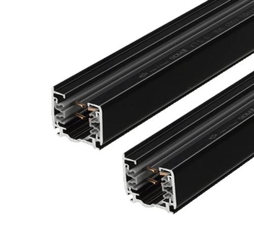 Tracklight Rail 3 Fase 2 meter Zwart 4 Wire - prrsb20-track-2m-zwart