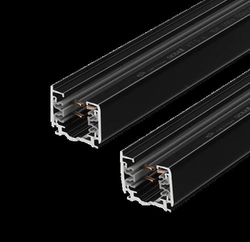 Tracklight Rail 3 Fase 3 meter Zwart 4 Wire - prrsb300-track-3m-zwart
