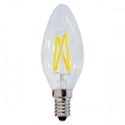 LED CANDLE 4W E14 2800K FILAMENT DIMMABLE - op1473