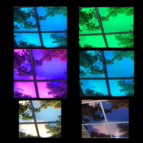 Led Fotoplafond RGB 6 panelen - paneel-foto-rgb-6