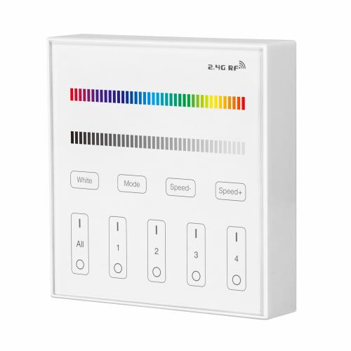 MI-LIGHT 4 ZONE RGB+W Panel Remote (batterijen) - prb3