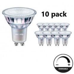 Philips GU10 CorePro LEDspot 5W 2700K DIMBAAR 10 pack - lvv-be26695-10pack
