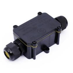 3 Pin Lasdoos 2-Voudig IP68 4~8MM - lvv-m686/2-4m8