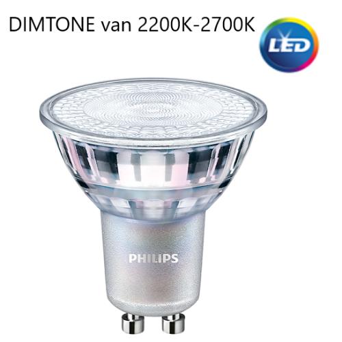 Philips GU10 MASTER Ledspot 4,9W 2200~2700K DimTone  - lvv-be26621