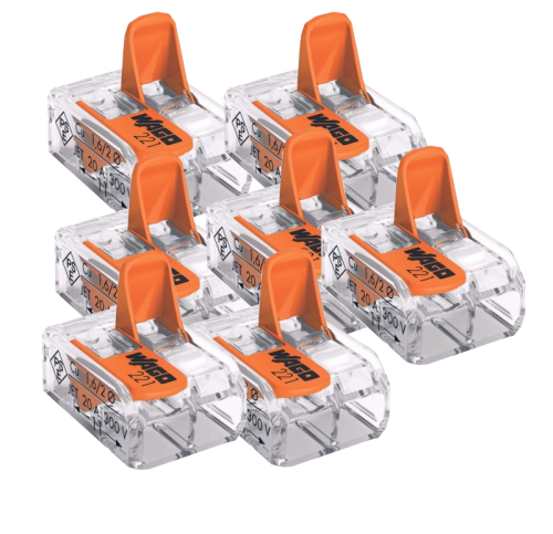 Wago 2V verbindklem - 100 stuks - be37162-wago-2v-verbindklem