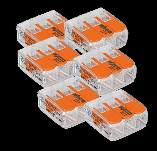 Wago 3V Verbindklem - 50 stuks - be37163-wago-3v-verbindklem