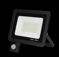 Led Floodlight/Bouwlamp met Sensor 50w - prfs050